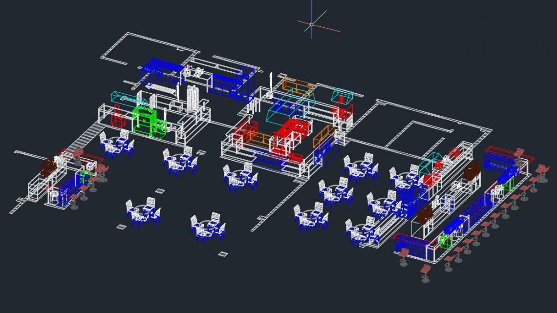 Small Hotel 3D Drawing CAD Template