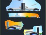 Small Municipal Airport Design CAD Template DWG