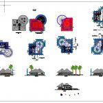Tourist Resort Plan and Elevation CAD Template DWG