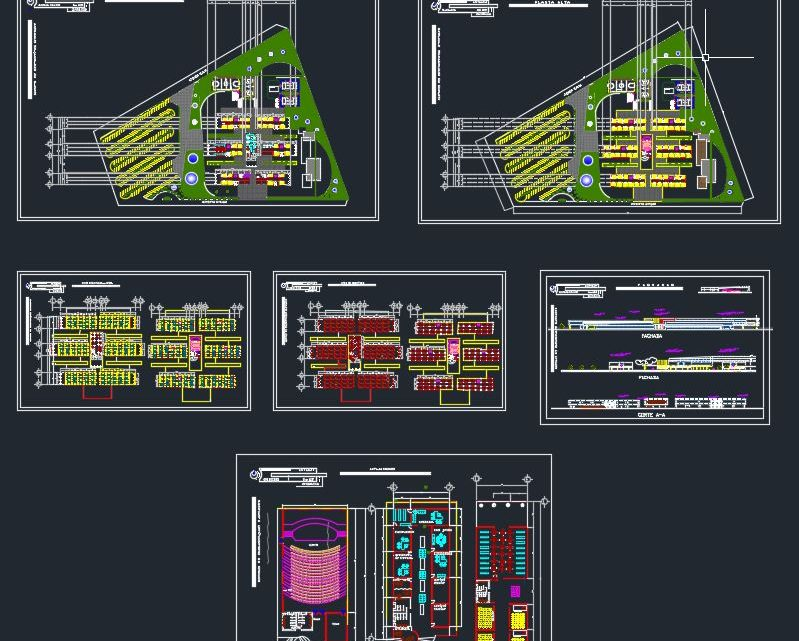 University Design Complete Plans and Details CAD Template DWG
