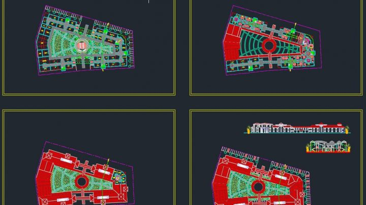 University Plans and Elevation Details CAD Templates DWG