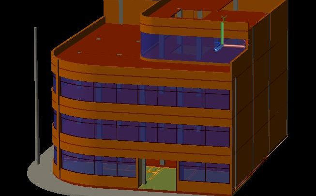 Administrative Building 3D Autocad Template DWG
