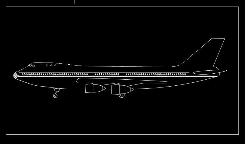 Aeroplane 2D Autocad Template DWG