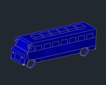 Autobus 3D Autocad Template DWG