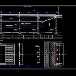 Automobile Bridge Elevations and Sections Details CAD Template DWG