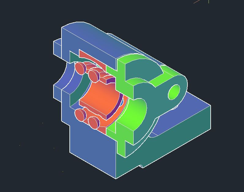 Ball Bearing 3D Model CAD Template DWG