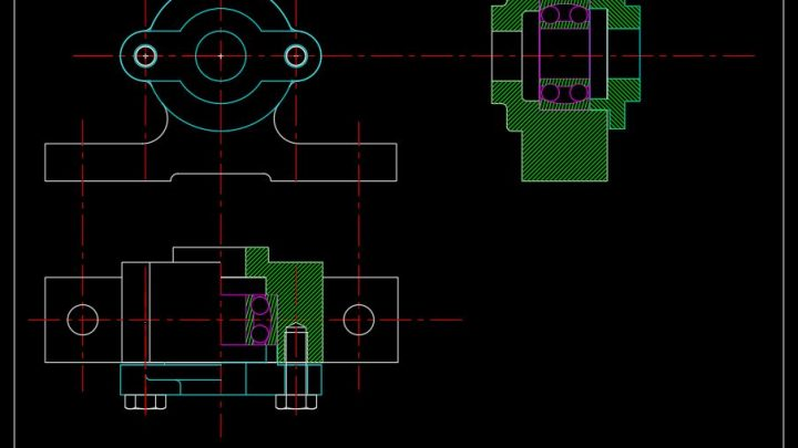 Ball Bearing Sections Details CAD Template DWG