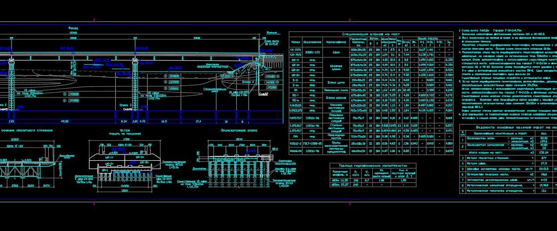 Bridge Crossing Elevation and Sections Details CAD Templates DWG
