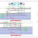 Bridge Geotechnical Profile Autocad Template DWG