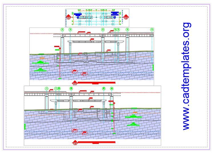 Bridge Geotechnical Profile Autocad Template DWG