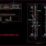 Bridge Layout Plan Elevation and Sections details with Road CAD Template DWG