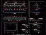 Bridge Pot Bearing Section Details CAD Template DWG