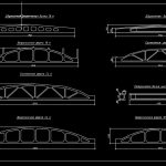 Bridge Reinforced Concrete Beams and Trusses CAD Template DWG