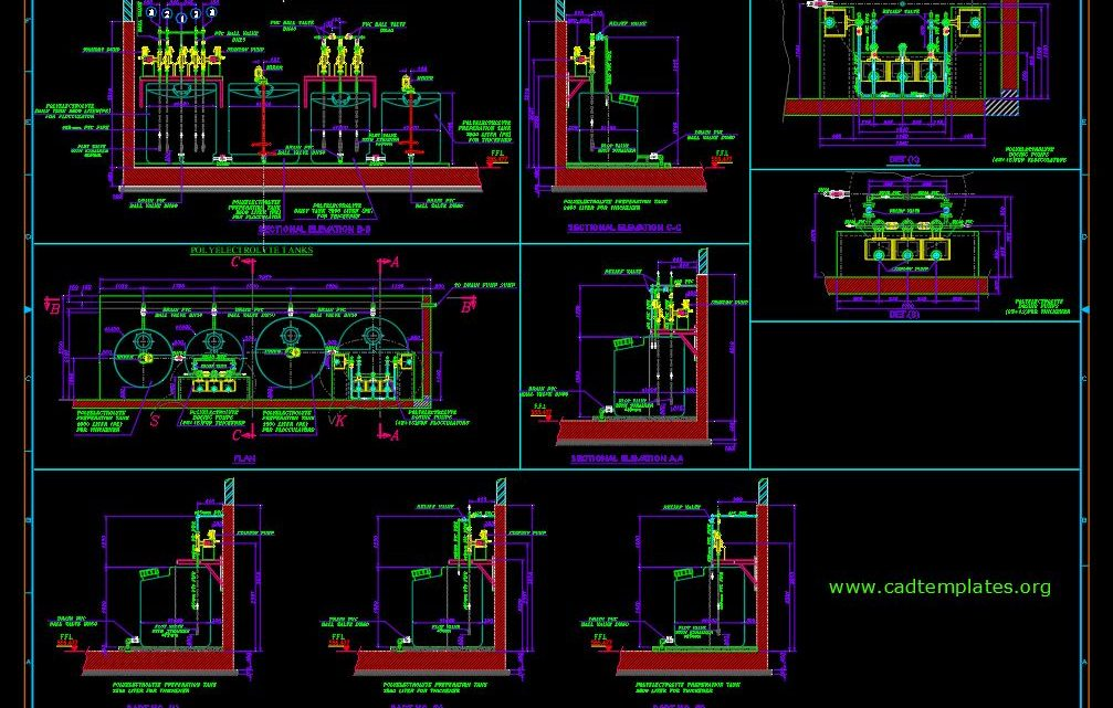 Chemical Dosing Pump Station Drawing CAD Template DWG