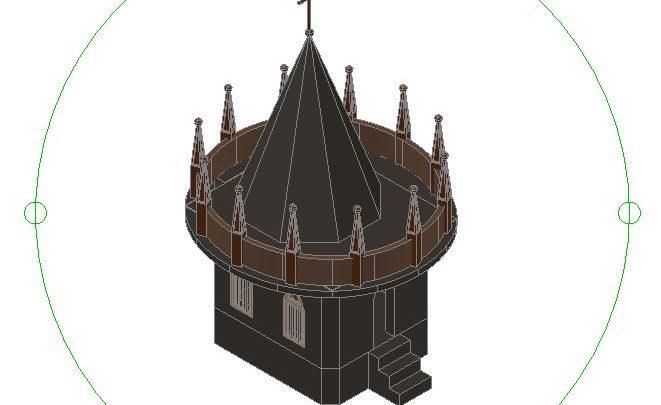 Church 3D Autocad Template DWG