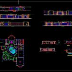 Club House Layout Plan Elevations and Section Details CAD Template DWG