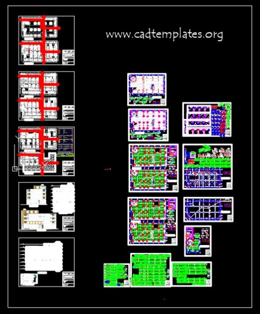 Commercial Center Structural Details Plans and Sections CAD Template DWG
