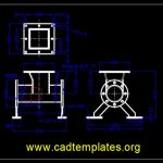 Continual Conveying Pump Plan CAD Template DWG