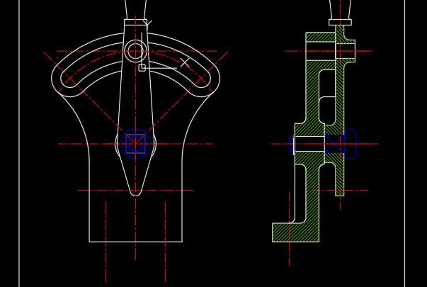 Control Handle Assembly CAD Template DWG