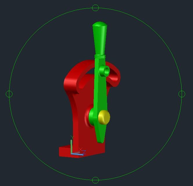 Controle Handle 3D Model CAD Template DWG