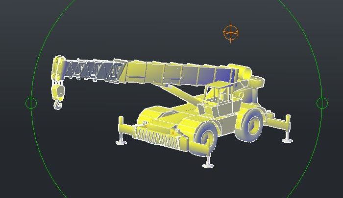 Crane 3D Autocad Model Template DWG