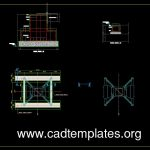 Crane Foundation Details CAD Template DWG