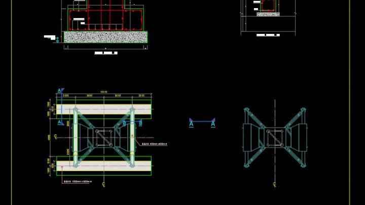 Crane Foundation Details CAD Template DWG