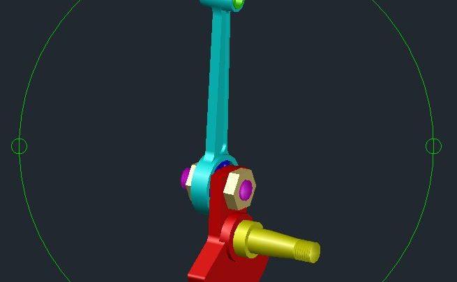 Crank 3D Model CAD Template DWG