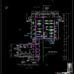 Custom House Network Plan CAD Template DWG