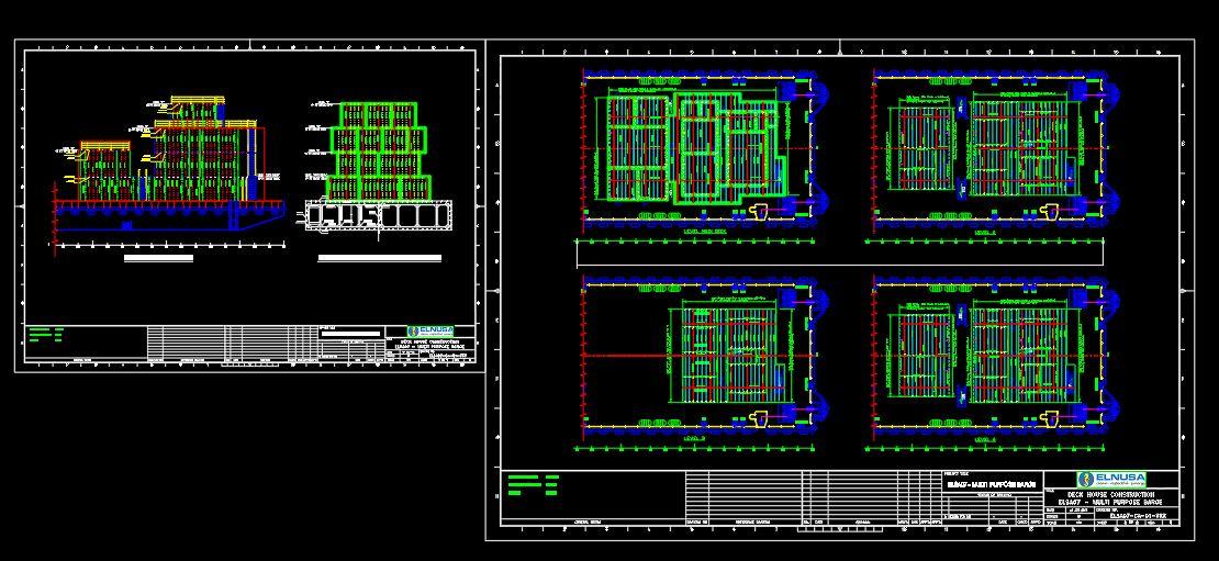 Deck House Construction Plans CAD Template DWG