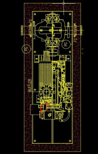 Diesel Pump Drawing Details CAD Template DWG