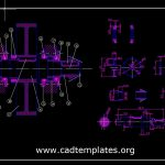 Drive Shaft Assembly And Parts Autocad Template DWG