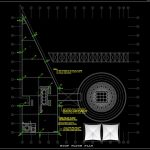 Earthing and Lightning Layout Plan CAD Template DWG