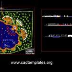 Ecological Resort Design Plan CAD Template DWG