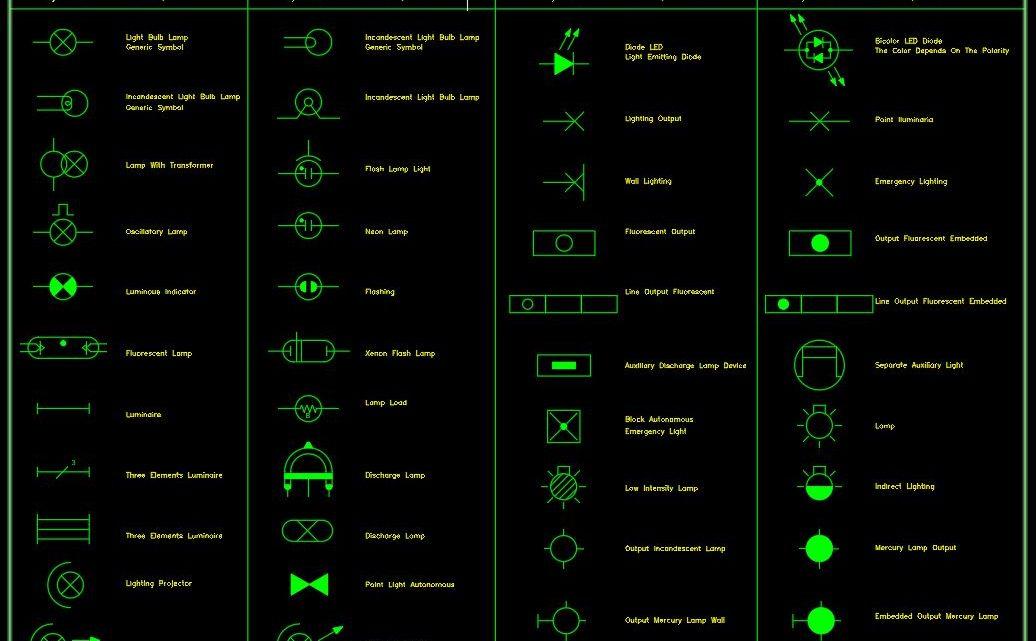 Electric Lighting Symbols CAD Template DWG