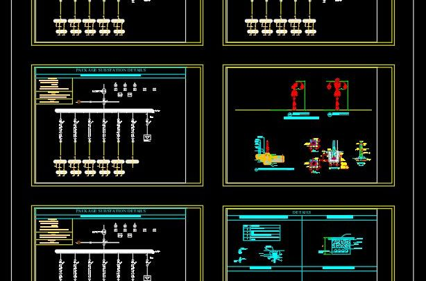 Electric and Lighting Details Autocad Template DWG