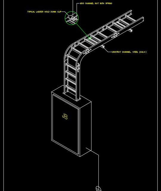 Electrical Cable Tray Installation CAD Template DWG
