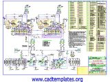 Engines Cooling System CAD Template DWG