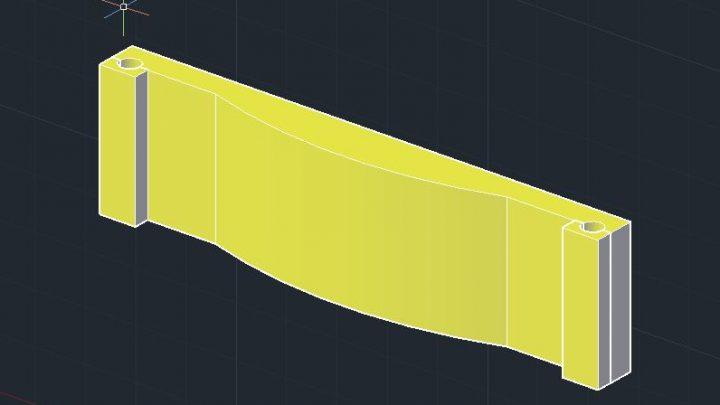 Epoxy Concrete Bridge Beam 3D Model CAD Template DWG