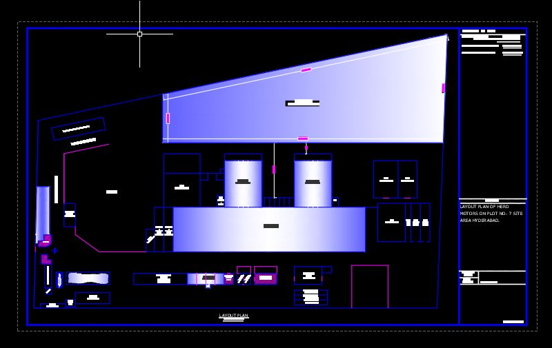 Factory Hero Motor Layout Plan CAD Template DWG