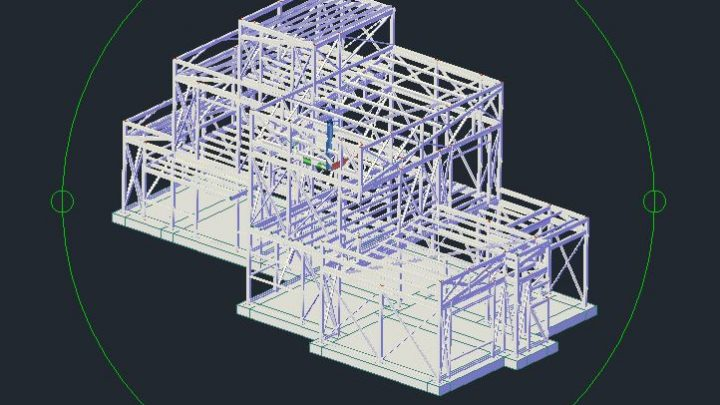 Factory Steel Structure 3D Autocad Template DWG