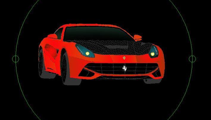 Ferrari Car 3D Autocad Template DWG