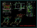 Fire Pump Details Plan CAD Template DWG