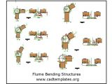 Flume Bending Structures CAD Template DWG