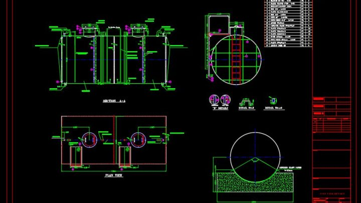 Fuel Tank and Fuel System Details CAD Template DWG