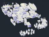 Furniture Autocad 3D Blocks Template DWG