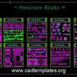 Furniture Autocad Free Blocks CAD Template DWG