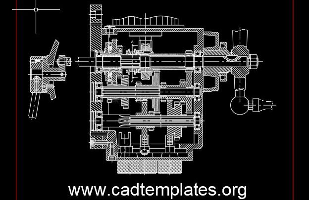 Gear Box Milling Machine Drawing CAD Template DWG