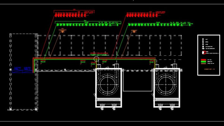 General Electric Plant CAD Template DWG