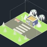 Guard House 3D Autocad Template DWG